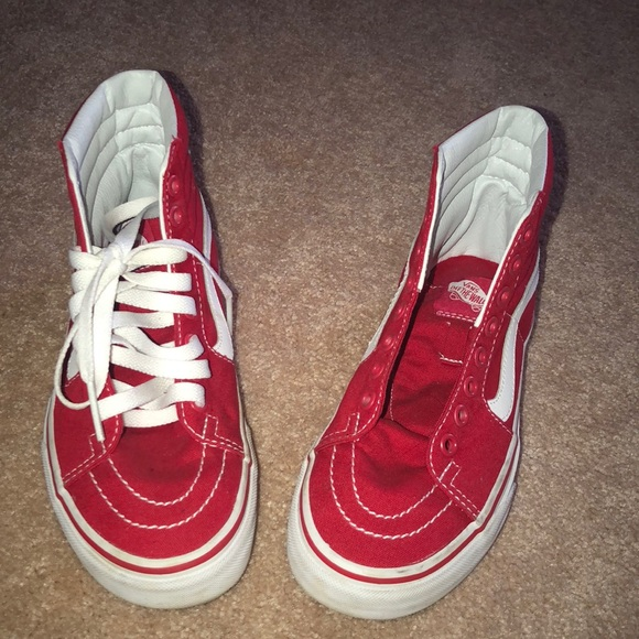 78d388c87a2 Brand new red high top Old Skool Vans. M 5b4bdbe7c2e88ed543a53dfe